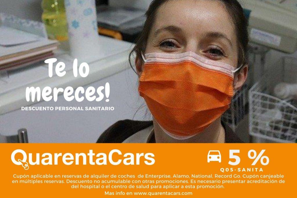 Cupón descuentos en alquiler de coches para sanitarios
